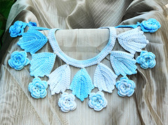 Blue Roses crochet bridal jewelry set collar necklace earrings bracelet ooak eco-friendly pure cotton jewelry (Made by Yanka) Tags: weddingjewelry irishcrochet crochetnecklace crochetjewelry crochetbracelet crochetearrings bridaljewelry crochetroses rosesbracelet bridesmaidjewelry rosesjewelry crochetcollar rosesearrings lightbluejewelry bridejewelryset