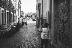 iPad shooter (lorenzoviolone) Tags: blackandwhite bw italy roma monochrome blackwhite trix finepix fujifilm lazio mirrorless vsco vscofilm fujix100s x100s fujifilmx100s walk:rome=june212015