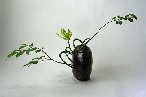 Ikebana using only branches