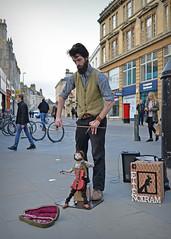 Street Theatre.. (Harleynik Rides Again.) Tags: street music bath puppet hipster streetlife entertainer busker streettheatre nikondf harleynikridesagain