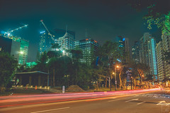 February 5th (christoferfamero) Tags: road city light sky urban cars museum night buildings project photography cityscape traffic trails mind 365 scapes skyscapers bgc christoferfamero
