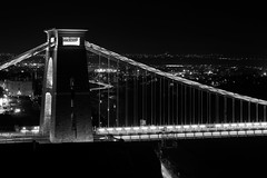 The Clifton suspension bridge (technodean2000) Tags: world from city uk bridge england color colour building water its skyline architecture night bristol landscape for this is nikon all with wine suspension symbol outdoor dusk who over dream grade structure 150 story infrastructure almost gorge serene years visitors build left picturesque legacy merchant avon has clifton listed lightroom the began d610 spanning 1754 attracted i d5200