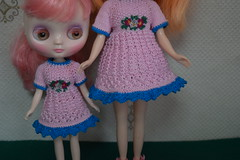 pink dresses for Neo Blythe and Middie Blythe
