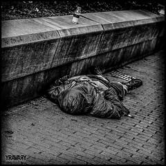Homeless ((Thanks for Over 2 Million Views!)) Tags: bw noiretblanc montreal homeless nb hdr sansabri itinrant canonef50mmf14usm canoneos7d yravary yravaryphotoart