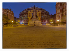 The Royal Albert Hall. (Wizard CG) Tags: world blue light building london architecture night digital ed four hall icons bright britain outdoor south albert low ngc royal olympus tourist bbc hour micro kensington amphitheater hdr attraction 43 thirds proms trekker m43 bbcproms 918mm mzuiko epl7