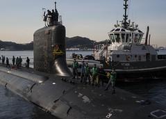 USS Texas visits Yokosuka , Japan. (Official U.S. Navy Imagery) Tags: japan sub navy submarine usn tokyobay usstexas submarinegroup7 ctf74