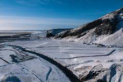 1679 (cristianachivarria) Tags: winter sky mountain snow nature landscape iceland sunnyday skogafoss skogar projectweather