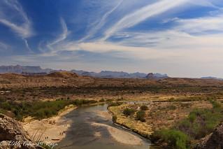 Chisos at A Distance, Santa Elena Canyon, Big Bend National Park, Texas - Filename: XR6A1728-Edit - 1/200 sec at f/13 ISO 100