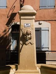 eau non potable (Mr. Clive) Tags: france water fountain stone outside lumix eau pierre panasonic shutters provence extérieur fontaine volets alpesdehauteprovence shaddows manosque dmcgf3