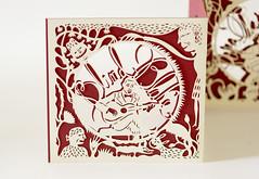 DSC_0003 (Elsita (Elsa Mora)) Tags: christmas paperart card redandwhite papercraft holidaycard papercutout elsita papercutting elsamora