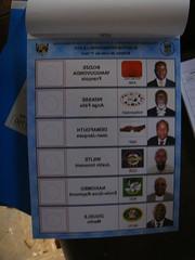Bulletin de vote Centrafrique 2011 (lections Qubec) Tags: niger de cte international vote bulletin lections ivoire hati centrafrique