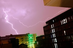 Lightning tearing the sky (Florian Marchal) Tags: storm weather neon stormy lightning futuristic futurist clairs orageux