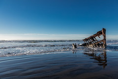 2016-01-10 - Peter Iredale Shipwreck-39 (www.bazpics.com) Tags: ocean sea usa beach water oregon america skeleton sand ship pacific or wave peter shipwreck frame hull wreck iredale