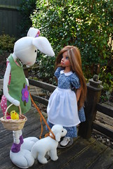 4. A Whimsical Easter Story (Little little mouse) Tags: bjd dollfie easterbunny tansy homemadedress kayewiggs tanlaryssa steifflindalamb