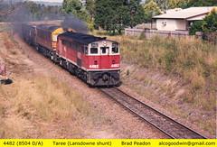 Vale 4482. (alcogoodwin) Tags: transport australian railway australia trains nsw locomotive locomotives taree alco shunting shunters alcos 4482 dl500b