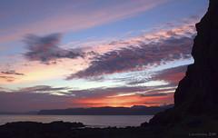 Good Night from a Scottish isle (lunaryuna) Tags: sunset sea sky clouds scotland colours sundown dusk isleofmull lunaryuna cloudscape nightfall isleofseil slateislands rocksilhouettes