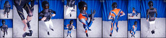 Ski Racer (llbdevu) Tags: blue winter boy orange white black ski socks race shiny helmet racing tight bodysuit spandex lycra catsuit llb layering skinsuit speedsuit