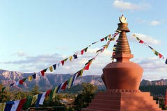 Amitabha Stupa (rileyj323) Tags: arizona film buddha stupa buddhist flags amitabha
