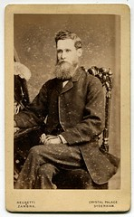 Victorian gentleman (1860s) (The Wright Archive) Tags: uk england man london history century vintage de beard crystal south victorian archive photographers palace suit nave photograph shoreditch cdv wright 1860s gentleman 19th geezer sydenham visite carte bloke nineteenth zambra negretti