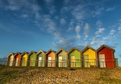 Splash Of Colour (Steven Peachey) Tags: uk england sky canon northumberland blyth northeastcoast northeastengland ef1740mmf4l lee09gnd leefilters canon6d blythbeachhuts lightroom5 stevenpeachey