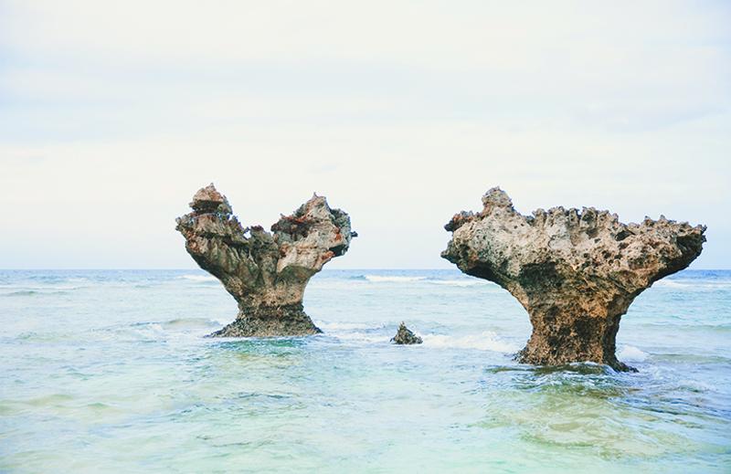 沖繩景點戀之島愛心石