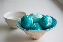 (Helen Silivren) Tags: blue easter japanese diy ceramics handmade turquoise teal coloring eggs cood