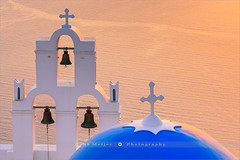 Agios Theodori Church - Santorini - Greece (~ Floydian ~ ) Tags: sunset seascape tower church architecture canon religious island greek photography islands evening mediterranean bell dusk religion culture belltower santorini greece cyclades firostefani aegeansea floydian canoneos1dsmarkiii henkmeijer agiostheodori