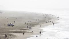 Beach Haze (AAcerbo) Tags: ocean sanfrancisco california white beach water fog canon coast haze waves bright surfer foggy surfing oceanbeach
