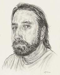 Self-Portrait, 2016; 5 X 7; Pencil #cb