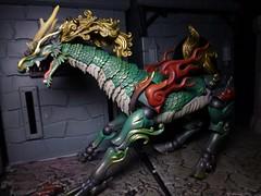 Roar of the Qilin (ridureyu1) Tags: toy toys actionfigure qilin kirin kaiyodo toyphotography revoltech jfigure holybeast sonycybershotsonycybershotdscw690 kaiyodotakeyashikijizaiokimono
