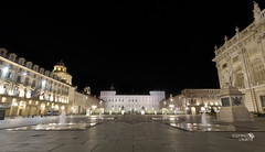Piazza Castello , Turin (Stefano Laurita) Tags: italy architecture night square torino nikon italia sigma piemonte piazza 1020 turin notte architettura d7000
