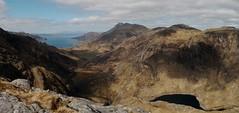Climbing Druim Fada looking towards Beinn Sgritheall and the Cuillin of Skye (Mumbles Head) Tags: mountains scotland highlands grahams glenelg