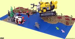 Exploring the Deep (MSP!) Tags: lego deep submarine diorama explorind