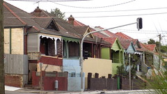 Sydney NSW - Old early 20th century terrace bungalow townhouses 2016 (nicephotog) Tags: street urban brick century early townhouse sydney nsw 20th twentieth