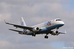 Flybe G-FBJH Embraer 175 at Manchester Airport 02-04-16 (2) (JH Aviation and Railway Photography) Tags: egcc manchester airport aviation viewing park southside pub airliner aircraft jetliner flybe