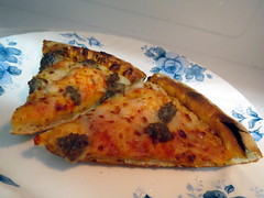 Sausage Pizza Slices. (dccradio) Tags: food lunch nc sausage northcarolina plate pizza eat meal supper microwave slices lumberton papajohns corelle robesoncounty
