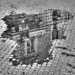 Puzzle. (Pablos55) Tags: reflection puddle pavement cobblestones sanpietrini riflesso pozzanghera selciato