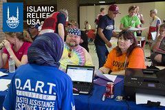 Islamic Relief USA's disaster response team works with clients to help them after they've survived a disaster.