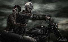 #194. I got nine lives, cat's eyes (Gui Andretti) Tags: race couple biker rider turlaccor lavrarocl