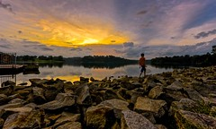 I'll Always Be Here (Anna Kwa) Tags: light sunset sky nature water reflections dark landscape nikon singapore rocks shine path d750 always moment remembrance my afszoomnikkor1424mmf28ged illalwaysbehere annakwa lowerpericereservoir