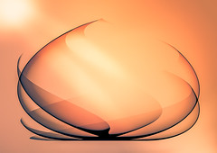 Lotus In Light Pastel (Alfred Grupstra Photography) Tags: orange abstract art lotus
