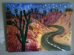 IMG_1558 (dnassler) Tags: cactus night painting stars desert nevada hills nighttime nightsky cactuses hiway starrynight windingroad curving roadatnight curvingroad starrynightsky starsinthenight windinghiway