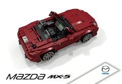 Mazda MX5 MkIII (NC 2005) (lego911) Tags: 2005 auto sports car japan japanese nc model soft lego top render convertible mazda miata cad sportscar mx5 povray 2000s moc softtop mkiii mk3 ldd miniland lego911