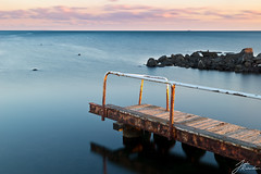 Williamstown Broken Pier (Jake Richardson Photography) Tags: ocean old sunset sea sky abandoned beach water nikon rust rocks long exposure australia melbourne victoria williamstown le d610