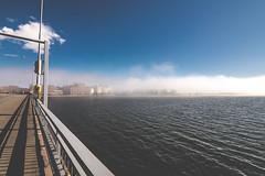 Sumuu sillalta (miikajom) Tags: light sea sun mist fog suomi finland spring helsinki wide tokina ruoholahti meri lauttasaari sumu silta kevt laru laaja