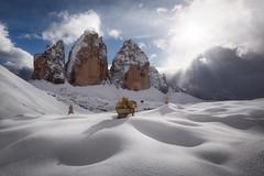 Lull (Aurlien BERNARD) Tags: cloud sun mountain snow storm alps montagne canon is peak sombre l usm tre dolomites cime 5dmkiii 5dmk3 5d3