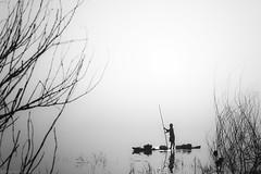 Infinite (anandgovindan) Tags: travel blackandwhite india white lake nature monochrome canon boat blackwhite fisherman fishermen space kitlens whitebackground 1855mm chennai infinite tamilnadu cwc chengalpattu chengalpet nammachennai canon600d chennaiweekendclickers kolavai kolavailake mychennai anandgoviphotography anandgovindan cwc509