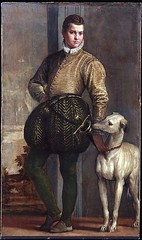 Boy with a Greyhound, 1570s // Paolo Veronese (Paolo Cagliari)  (Italian, Verona 15281588 Venice) (mike catalonian) Tags: portrait italy male painting fulllength baroque 1570 paoloveronese 1570s
