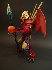 Makuta Tridax (Anthony Wilson (Bricks of Awesome)) Tags: wings pod lego contest large demon titan bionicle moc makuta tridax