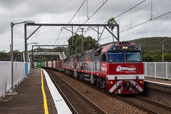 "2016-04-25 Sydney Rail Services PHC002-PHC001 Awaba 4190 (Dean ""O305"" Jones) Tags: au australia newsouthwales locomotive srs shortnorth containertrain 4190 awaba c44aci mainnorthline phc001 phc002 sydneyrailservices crawfordsfreightlines"